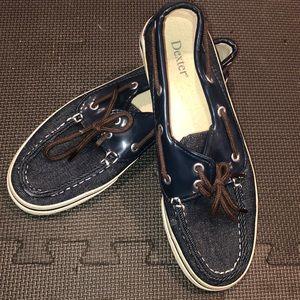 Denim boat shoes